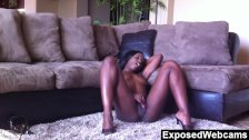 Ebony goddess does a hot webcam show