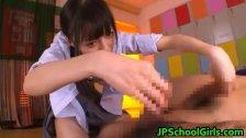 Aino Kishi Asian schoolgirl gangbang