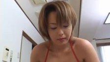 Milf Rio Kurusu makes her boyfriend cum