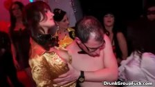 Drunk horny girls love sucking big dick