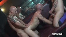 Threesome breeder in sauna
