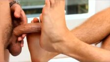 Big hot guys worship feet and big dicks