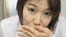 Alluring and kinky Japanese cutie giving head