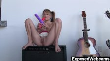 Laney fucks herself with a dildo