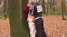 Raunchy guys go for outdoor quickie