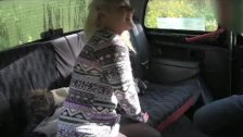 FakeTaxi - Young blonde takes on old cock