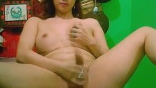 Shemale Cums and Unloads her Jizz