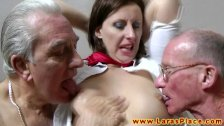 Hot mature in mmf threeway spanked