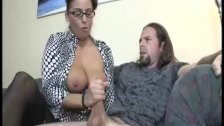 Busty Milf Enjoys Jerking A Dick