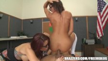 Madison in hot school threesome - brazzers