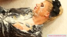 Sexy lesbians at the gloryhole getting slimed