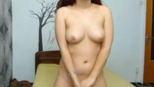 Babe Licks off Cum on her Tits