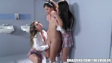 Naughty girls have a hot threesome - brazzers