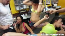 Orgy at the tattoo parlor