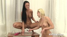 Piss hungry teen and her lesbian lover