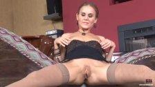 long legged russian blonde masturbating