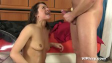 Fisted pussy filled with pee