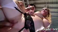 HarmonyVision Busty Aiden and Sara enjoy cock