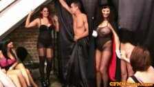 CFNM femdom magician gives hj show