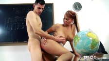 Hotgold Hot Busty Milf Teacher goes wild with
