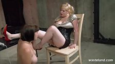 Female sex slave is whipped hard by her dom