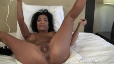 Asian MILF Tia Vibrating Her Pussy