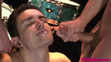 English batty boy gets two loads of jizz