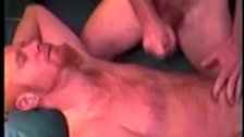 Gay guy cums on straight pal hairy chest