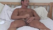 Muscular Straight Guy Rock Masturbating