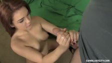 Teen Redhead Spattered With Jizz