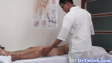 Gaysex asian doctor tastes patients cock