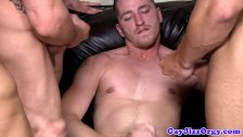 Gay orgy cums to climax on Travis Irons