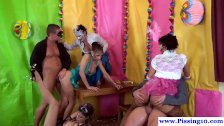 Wam fancy dress party with piss lovers