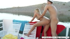 Vanessa Cage gets fucked on a boat - brazzers