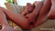 Bald Straight Guy Rob Masturbating His Cock