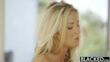 BLACKED blonde Karla Kush loves massaging BBC