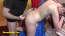 Czech teen hardcore anal fucked at CASTING