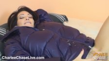 Puffy Jacket Fucking with MILF Charlee Chase