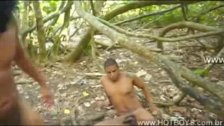 Force Fuck in the woods 2
