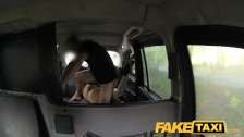 FakeTaxi - Halloween customer in taxi facial