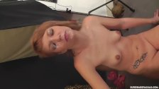Cleaning up cumshot from her face