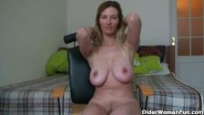 German mom's secret masturbation tapes