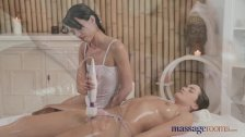 Massage Rooms - Young models have magic wand
