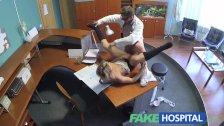 FakeHospital - Lady sucks cock to save cash