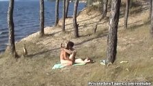 Killer hot nude couple fucking on the desolat