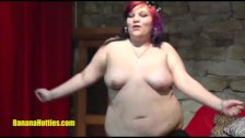 18yo fatty shows her chubby body at the CASTI