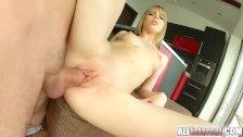 AllInternal Shy newcomer enjoys her creampie