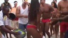 Brazilian gangbang after beach party