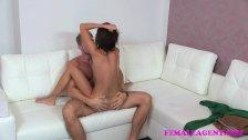 FemaleAgent Super sexy agent rides studs cock
