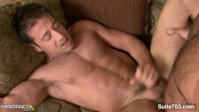 Brunette married guy gets fucked by a gay